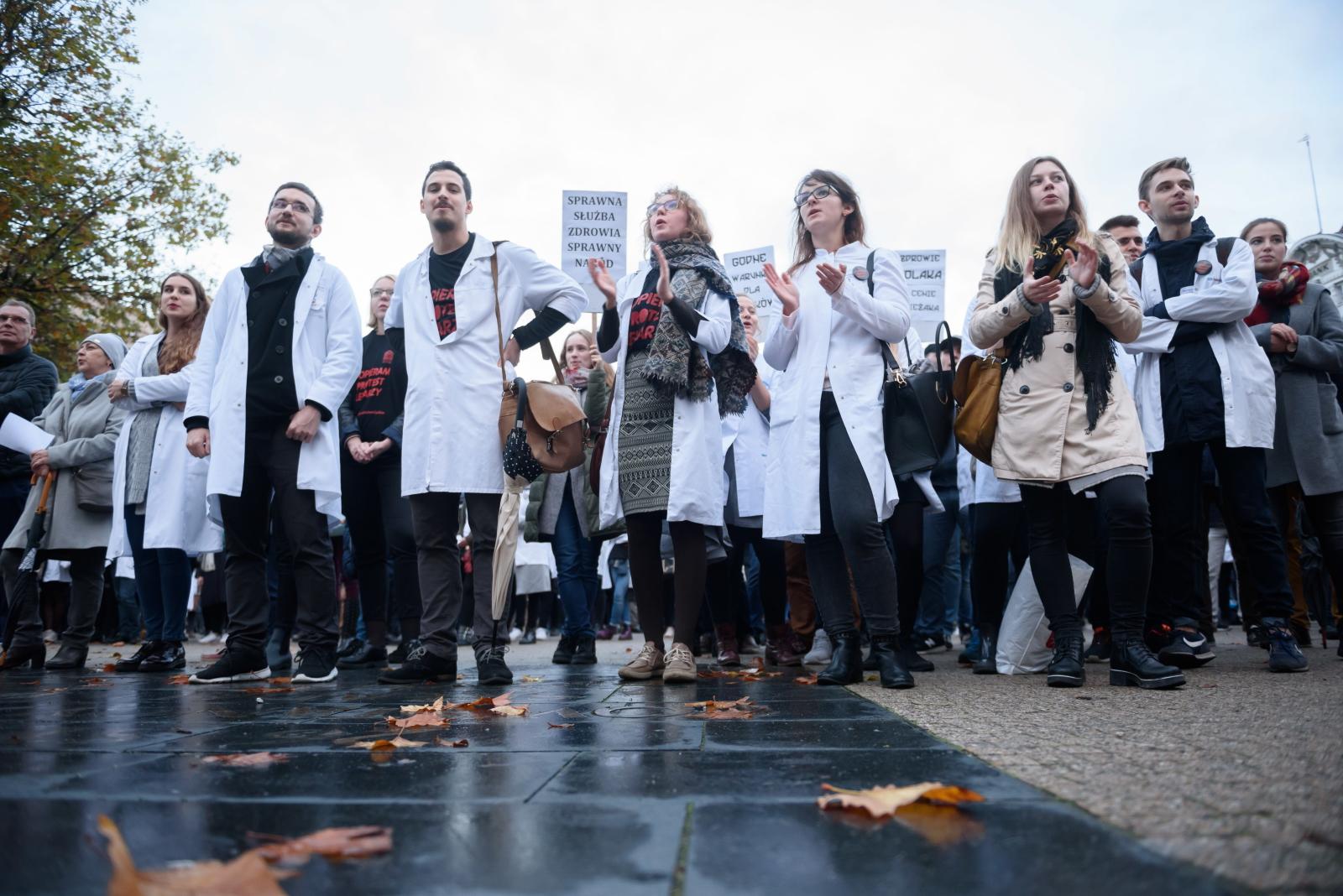 Protest medyków, Poznań
