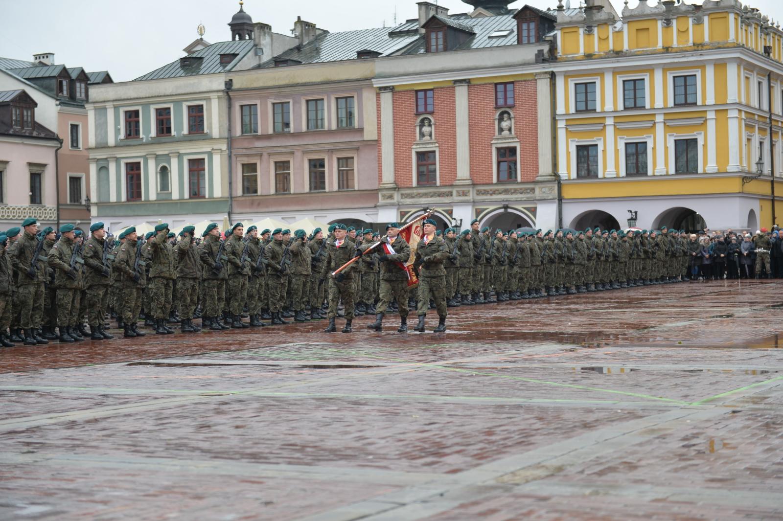 Przysięga Lubelskiej Brygady Obrony Terytorialnej  w Zamościu
