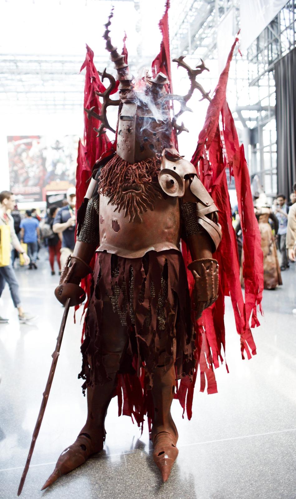 """""""Czerwony Rycerz"""" na nowojorskim Comic Conie."""