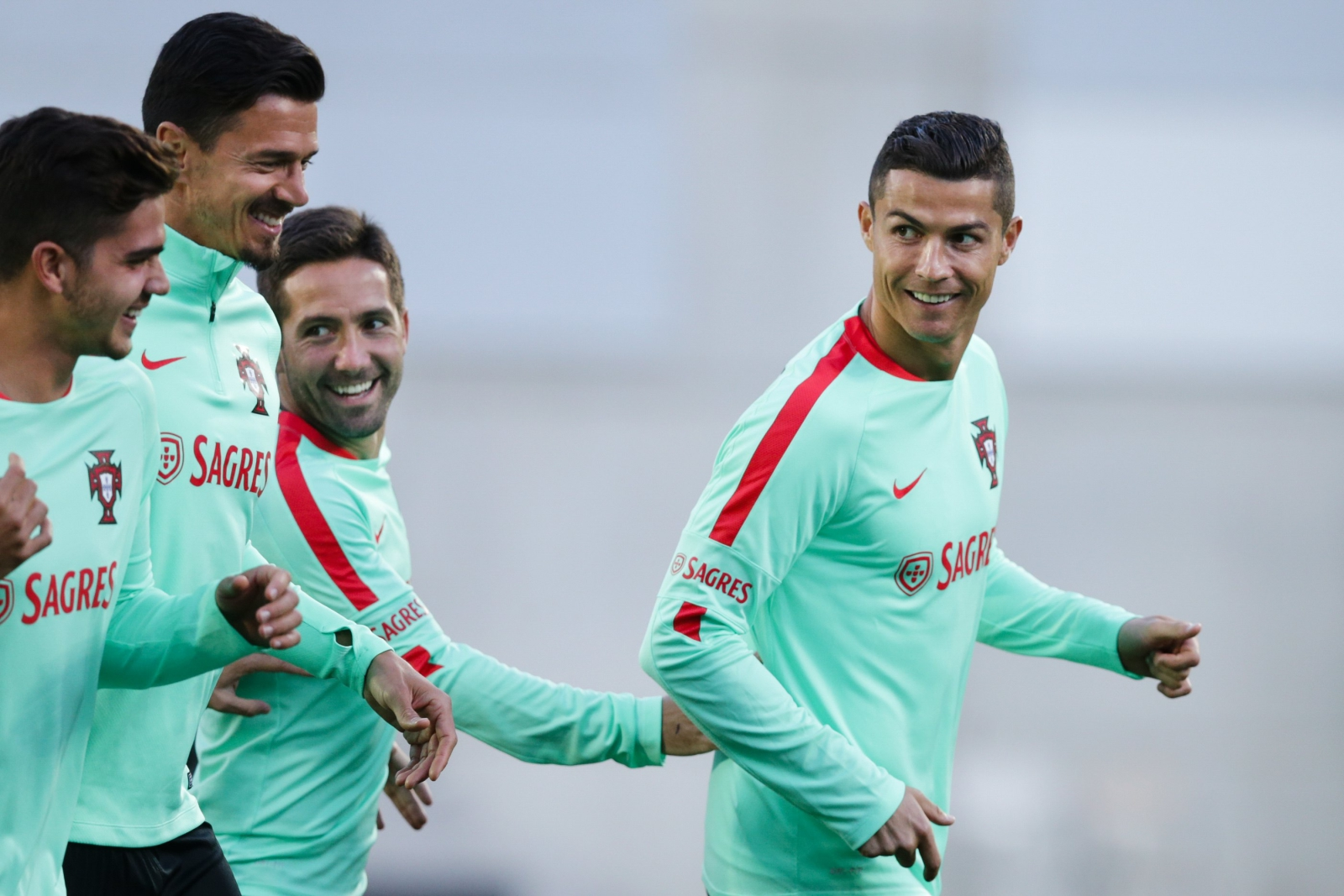 Trening reprezentacji Portugalii. fot. EPA/JOSE COELHO