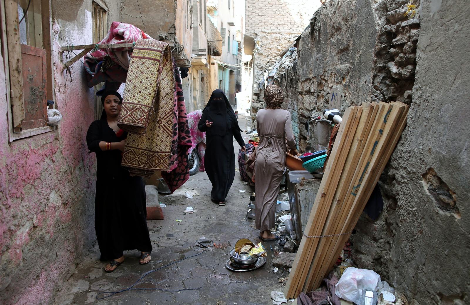 Ewakuacja budynku w Cairo, Egipt