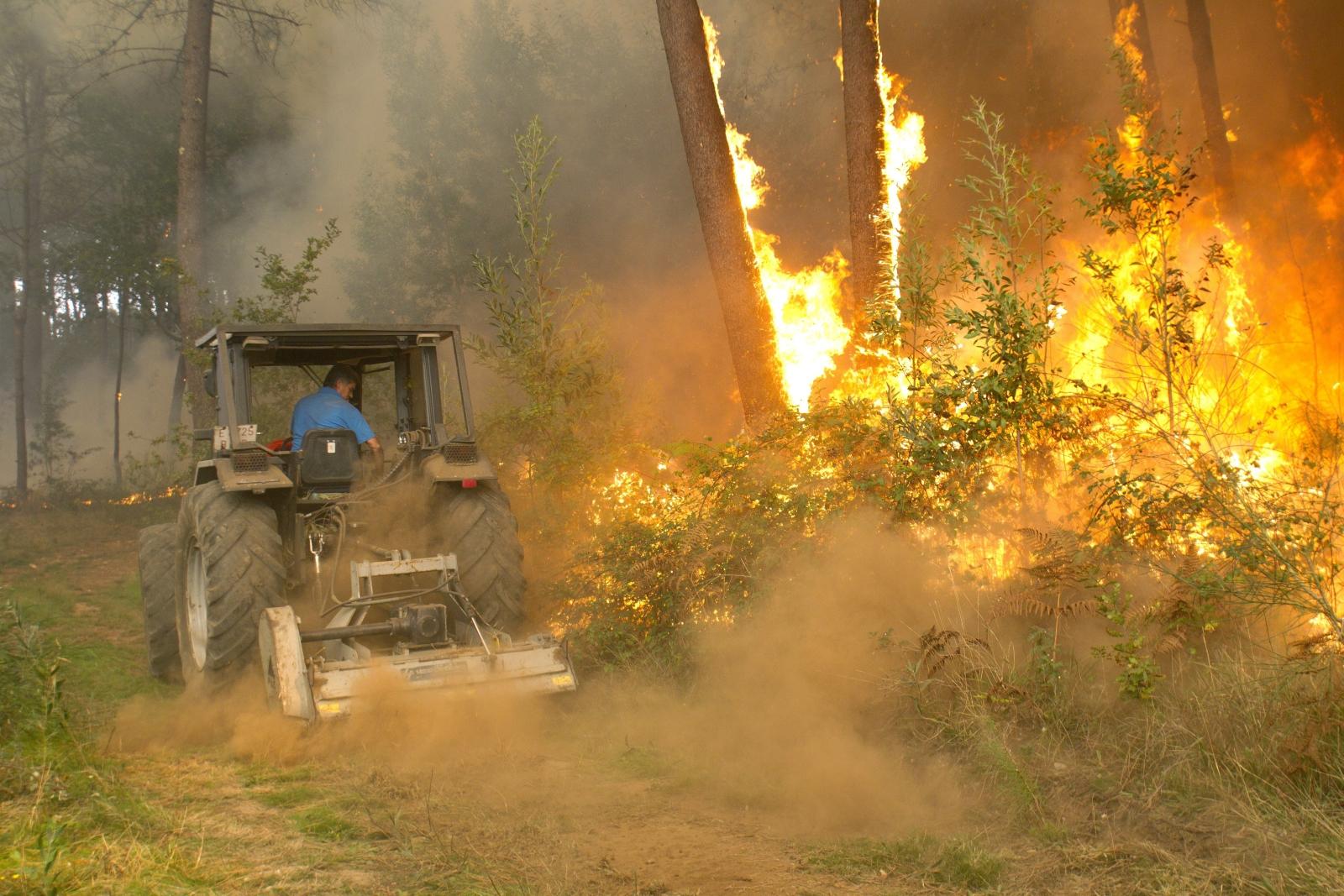 Pożary lasów w Hiszpanii  EPA/Salvador Sas