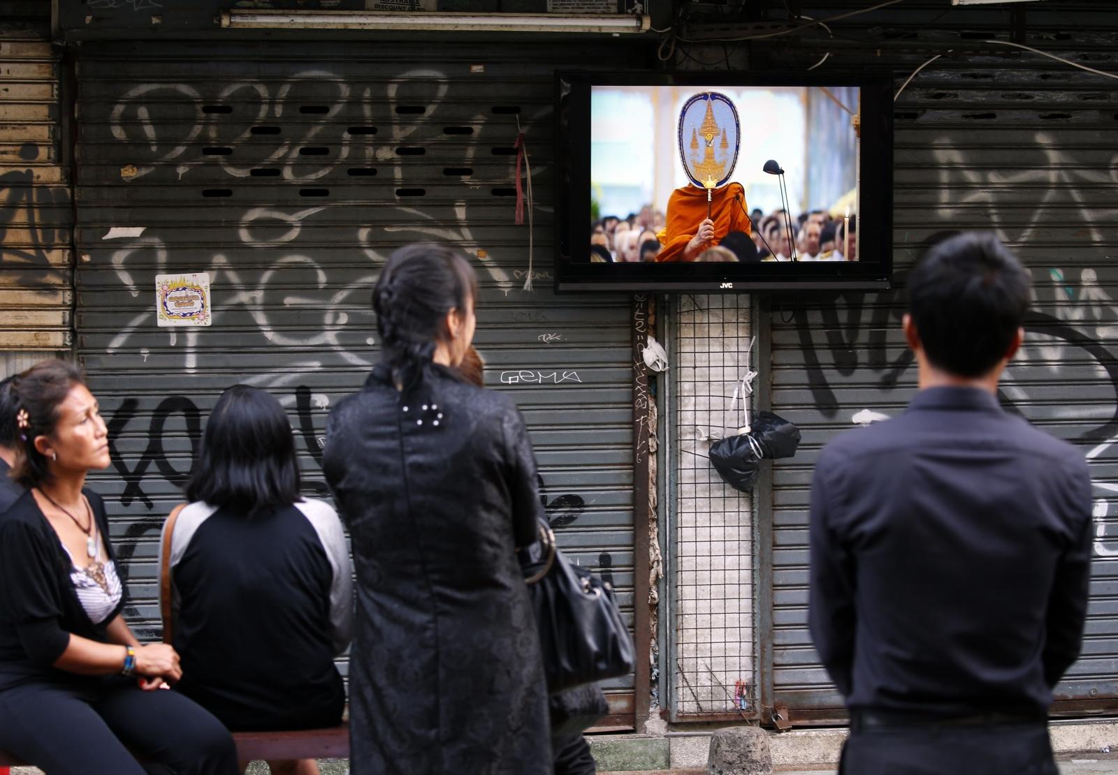 Ceremonia pogrzebowa Thai King Bhumibol Adulyadej - króla Tajlandii