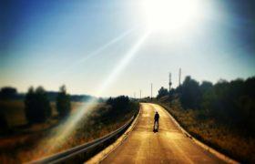 Droga, słońce