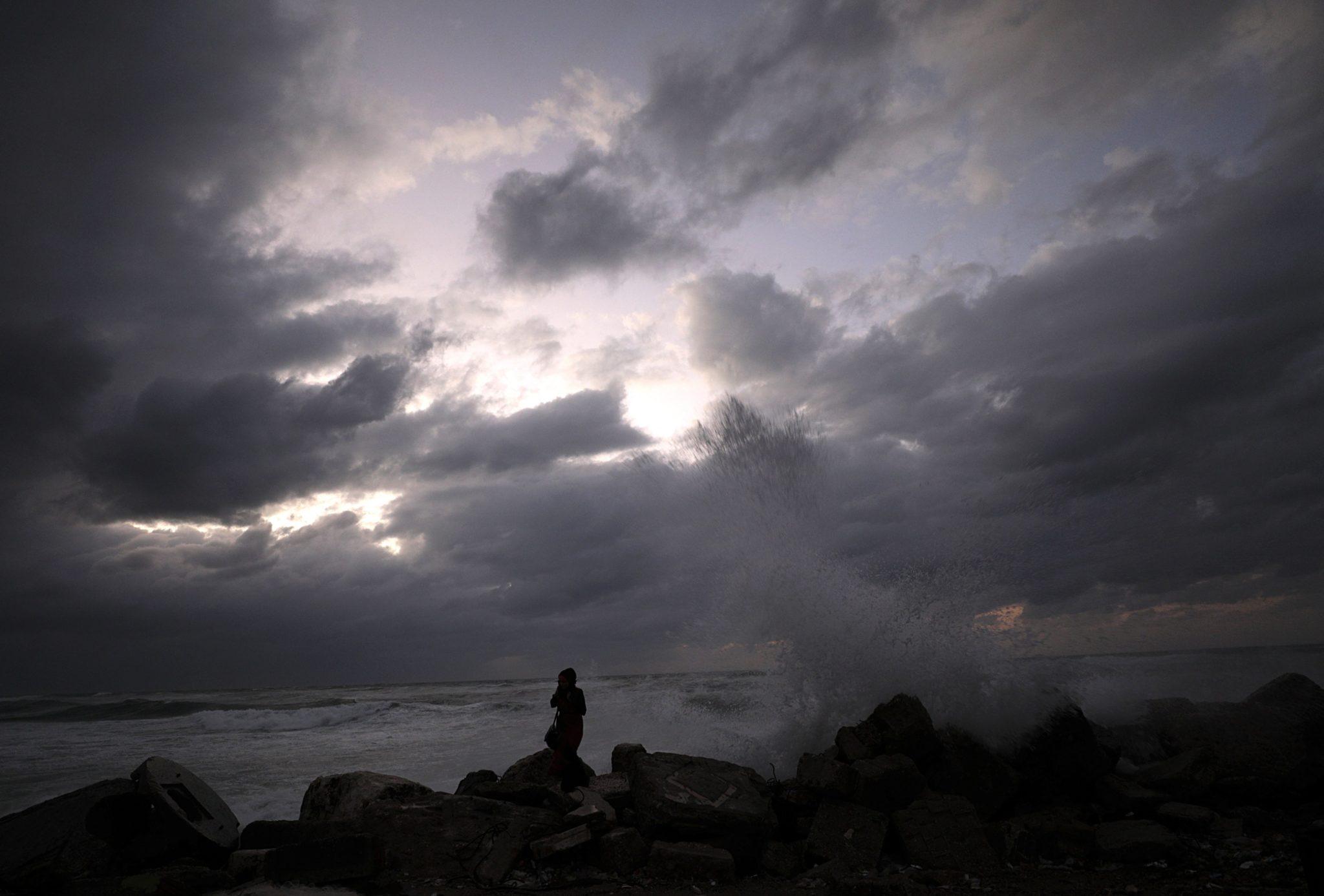 Sztormowa pogoda w Palestynie, Strefa Gazy, fot: Mohammed Saber, PAP/EPA