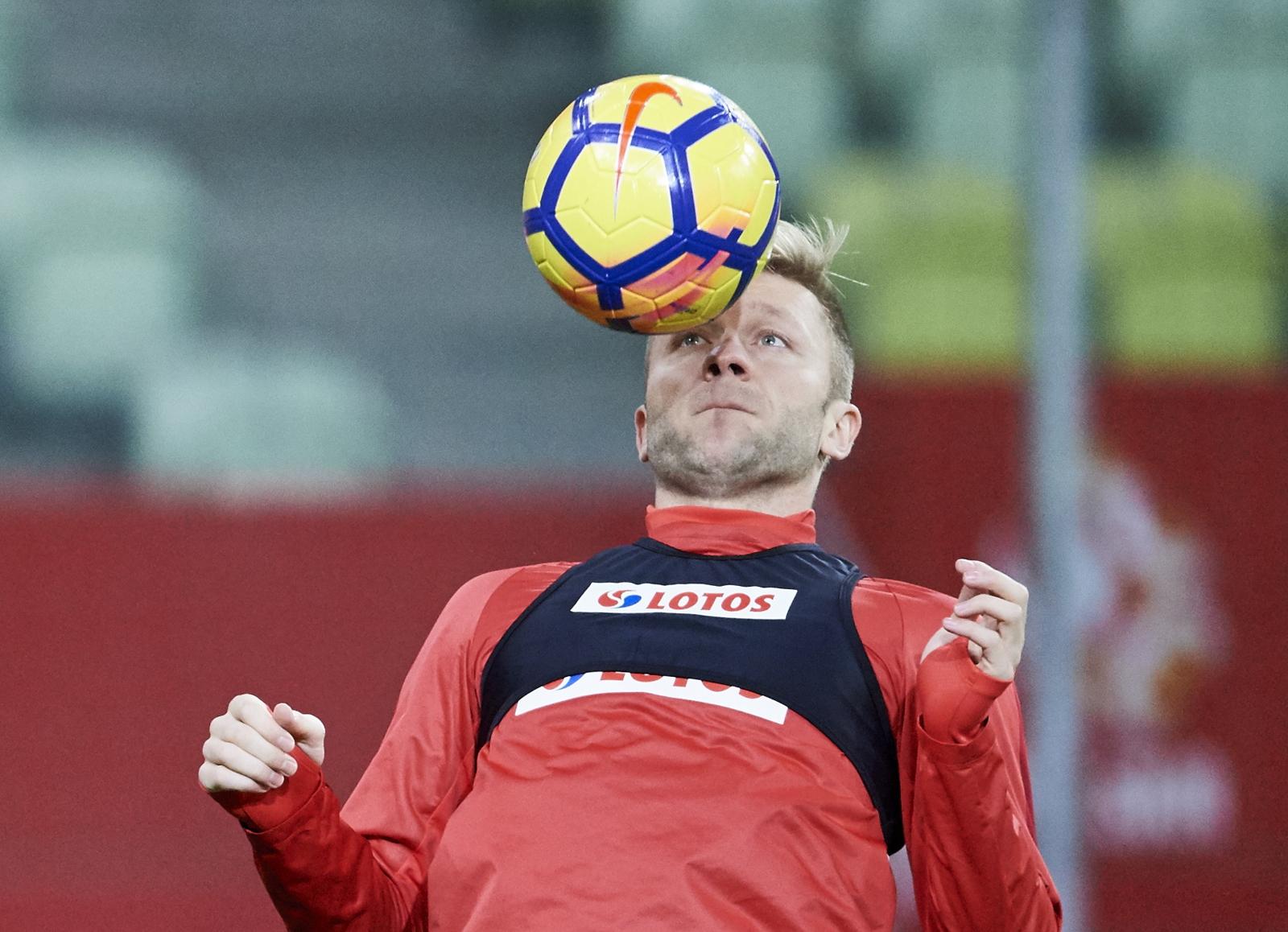 Jakub Błaszczykowski na treningu przed meczem z Meksykiem PAP/Adam Warawa