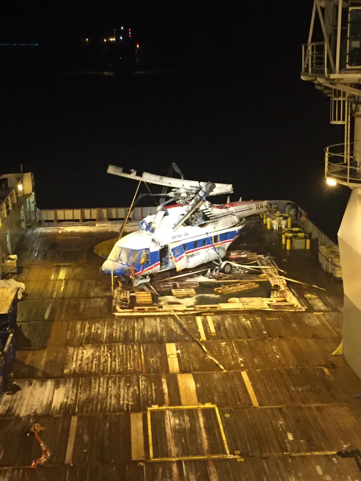 Norwegia, na Spitsbergenie rozbił się rosyjski helikopter  EPA/THE ACCIDENT