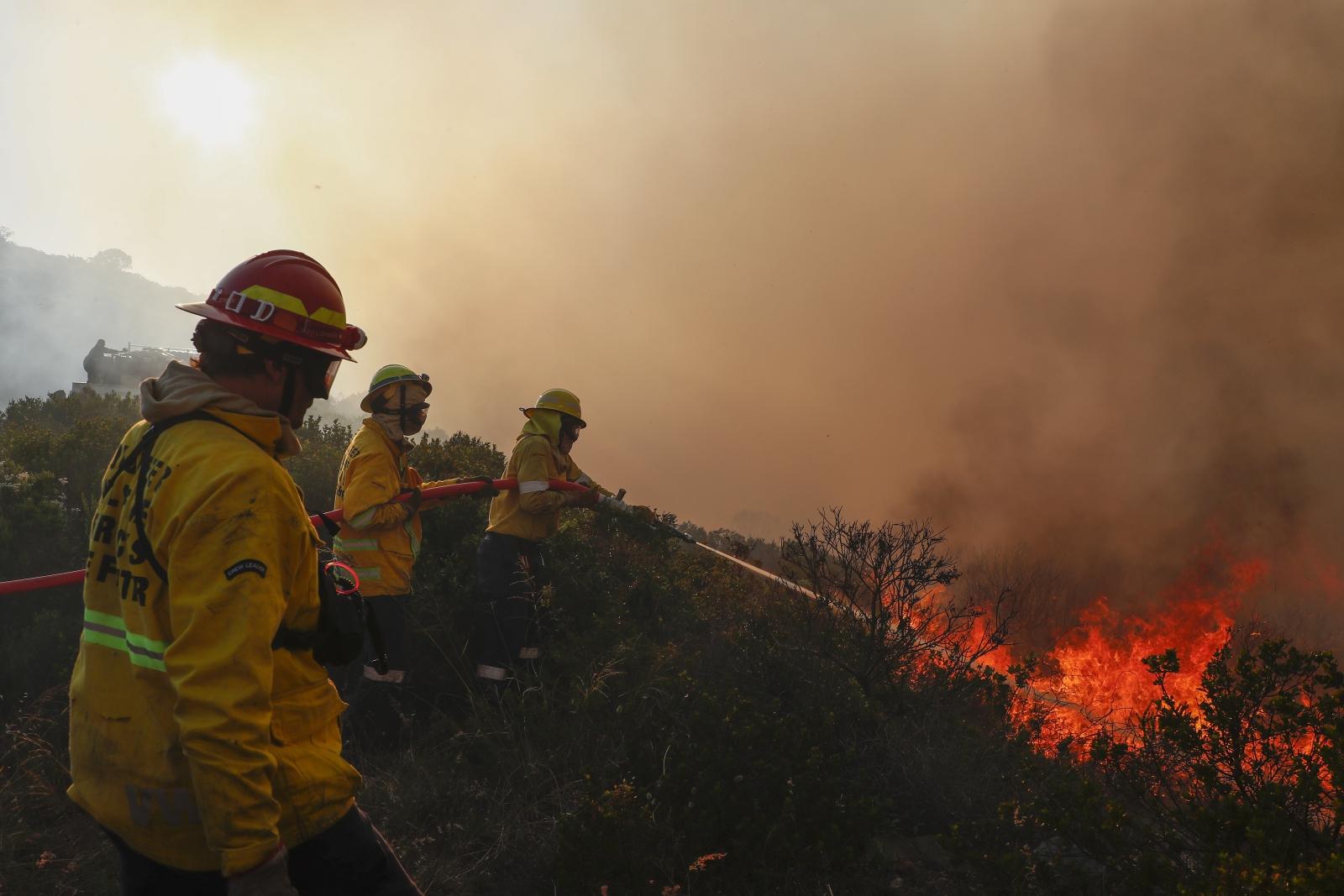 Pożary w południowej Afryce