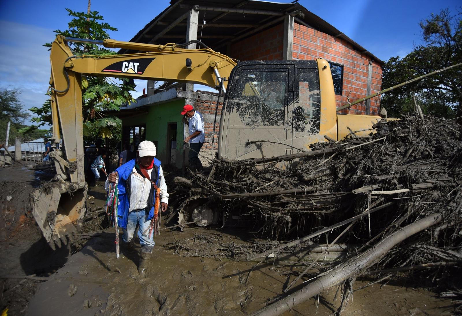 Skutki powodzi w Kolumbii