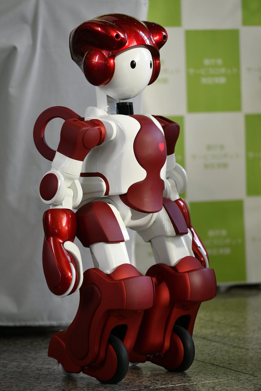 Japoński Robot; który będzie usługiwał gościom podczas Olimpiady w 2020 roku. Dostawca: PAP/EPA.