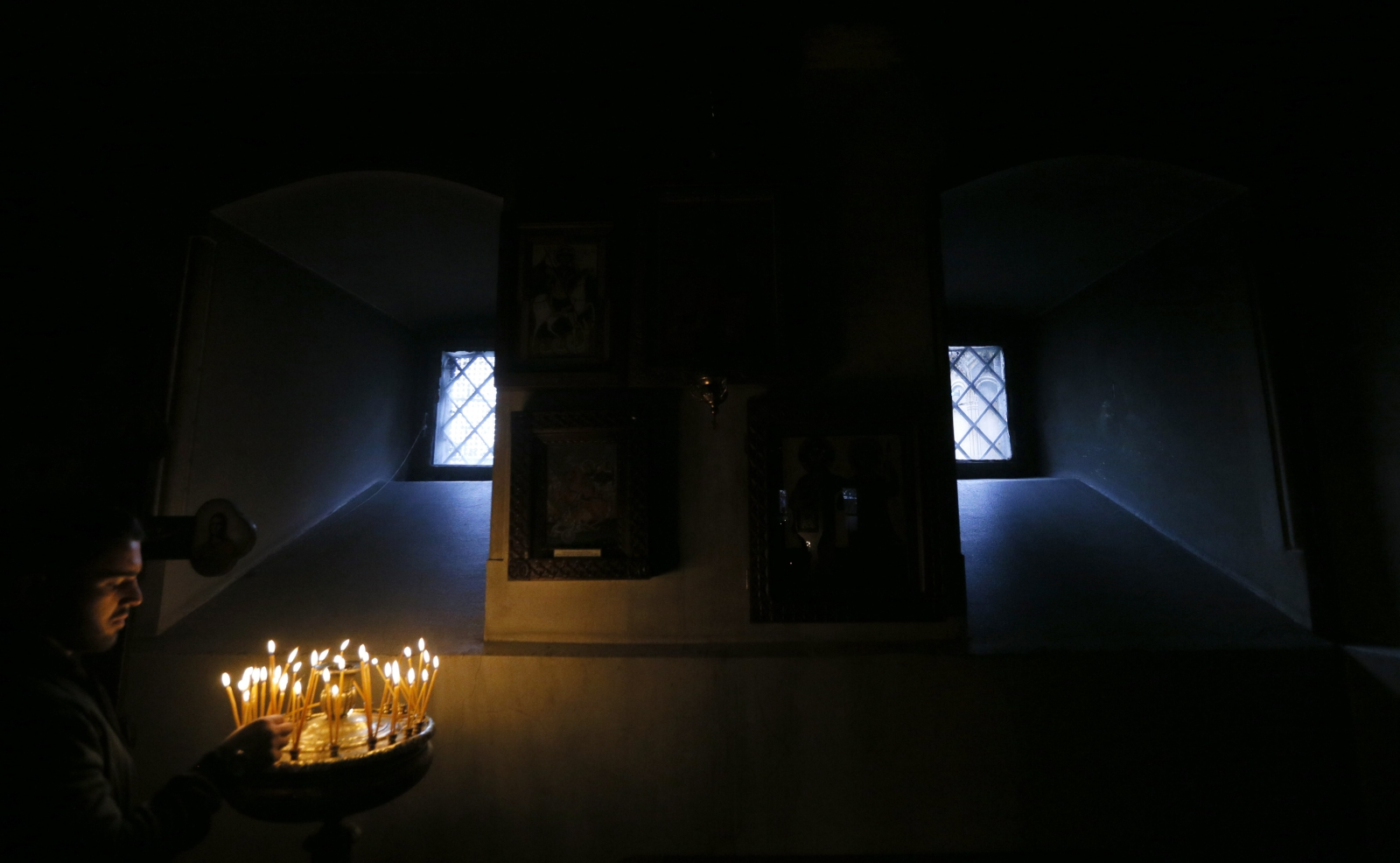 Uroczystości ku czci św. Grzegorza w kościele prawosławnym w Tbilisi