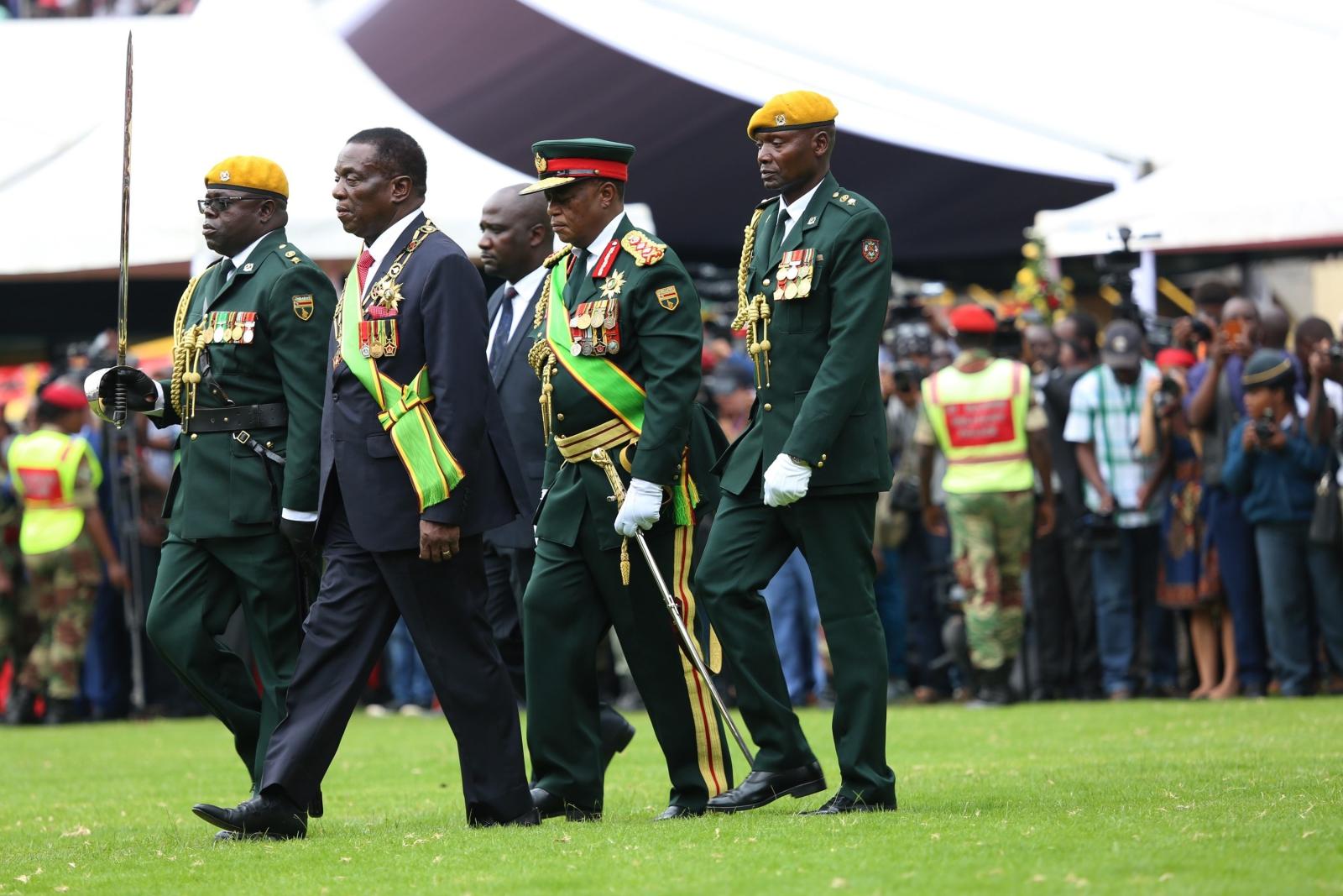 Zaprzysiężenie nowego prezydenta Emmersona Mnangagwy w Zimbabwe.