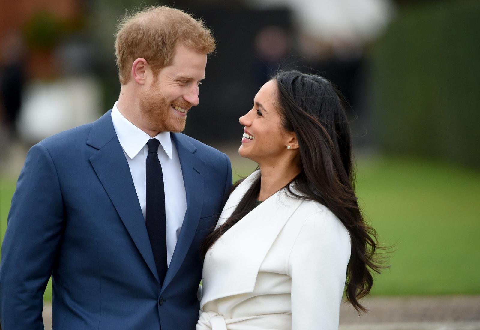 Książę Harry po ogłoszeniu zaręczyn z amerykańską aktorką Meghan Markle.