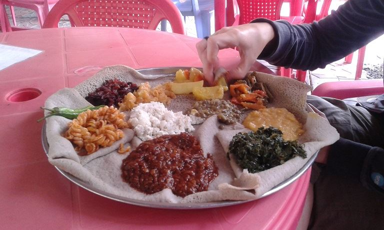 Etiopskie Jedzenie