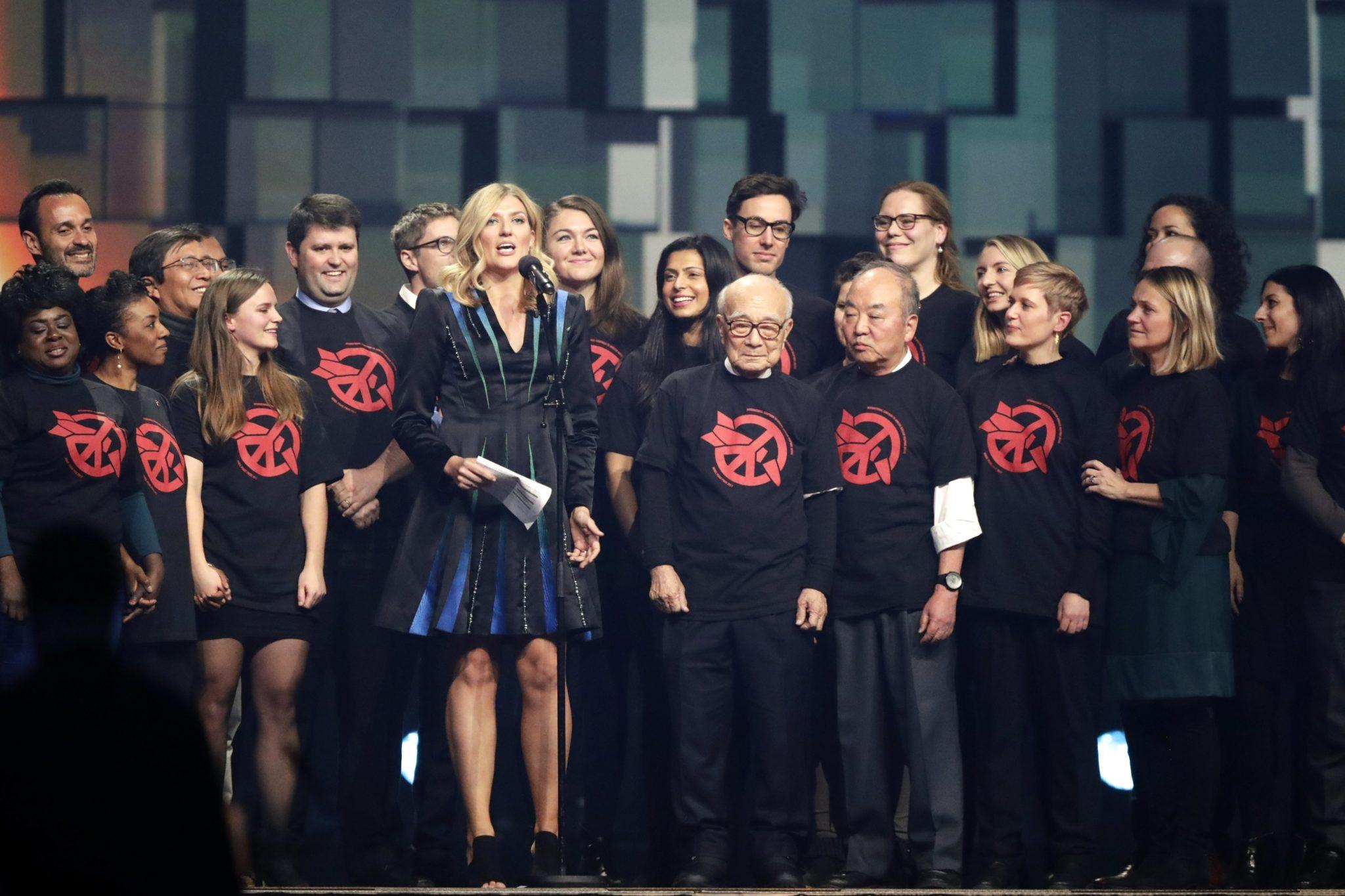 Norwegia: Beatrice Fihn, dyrektor Międzynarodowej Kampanii na rzecz Zniesienia Broni Jądrowej (ICAN), podczas koncertu na cześć laureatów Pokojowej Nagrody Nobla, fot: Berit Roald, PAP, EPA
