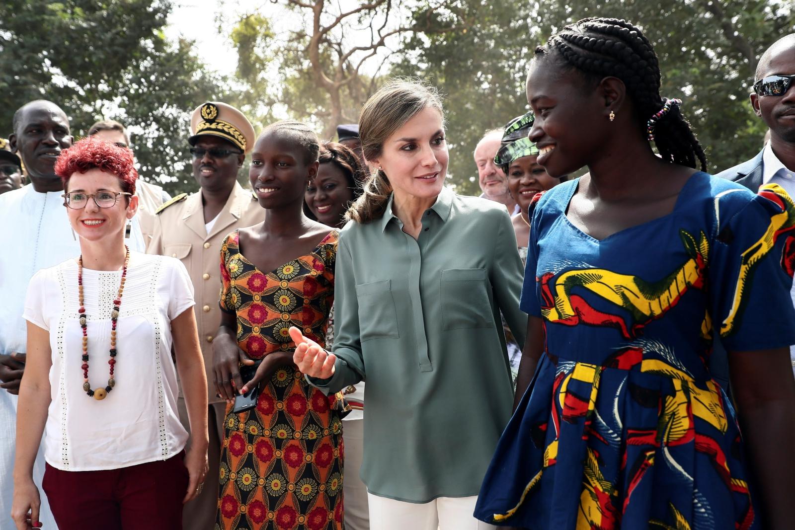Hiszpańska królowa Letycja podczas 4-dniowej wizyty w Senegalu, fot. EPA/MARISCAL