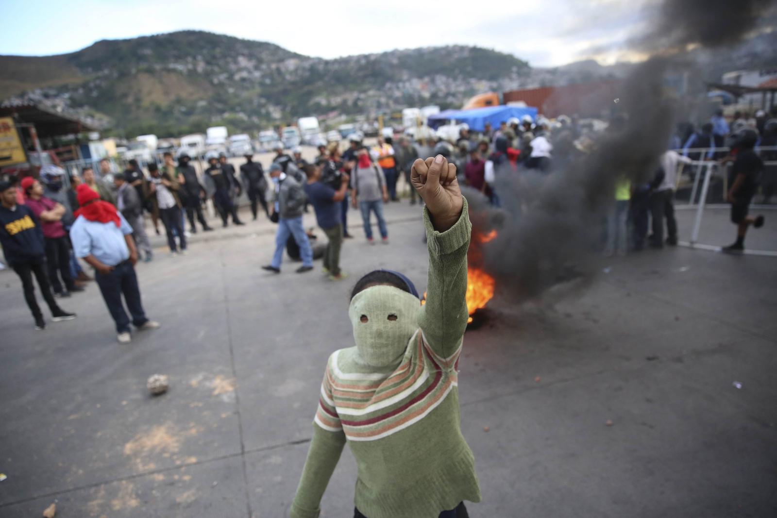 Demonstracje w Hondurasie. fot. EPA/Gustavo Amador