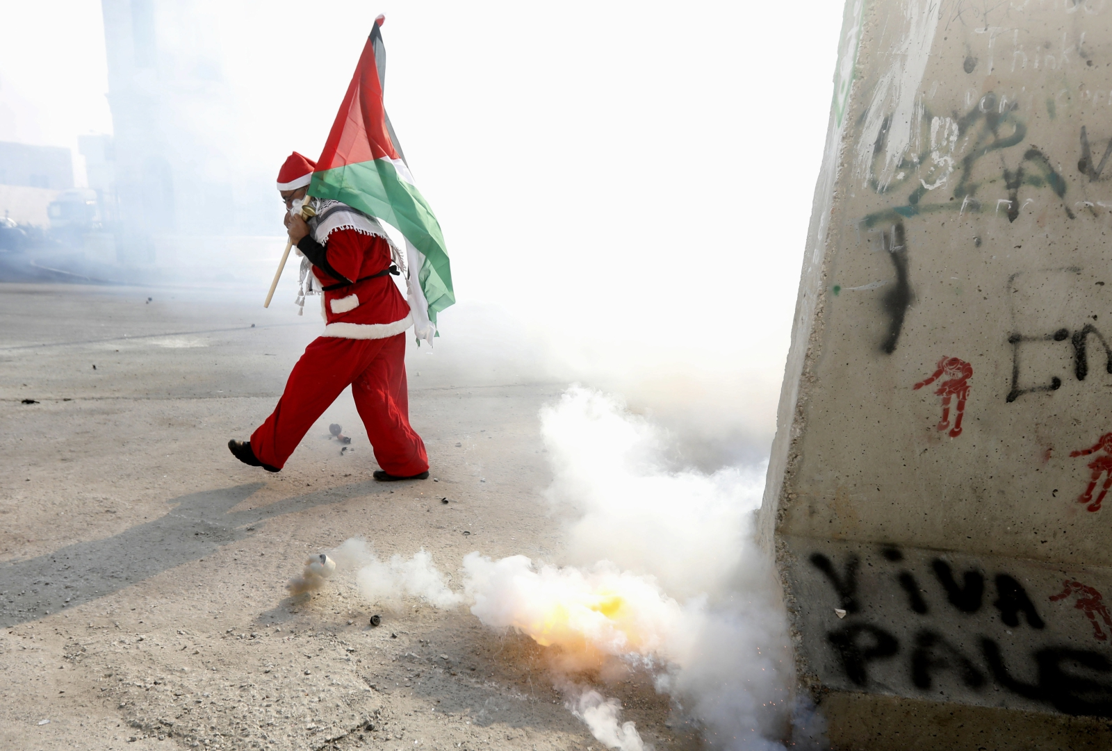 Palestyńczyk na ulicach Betlejem.