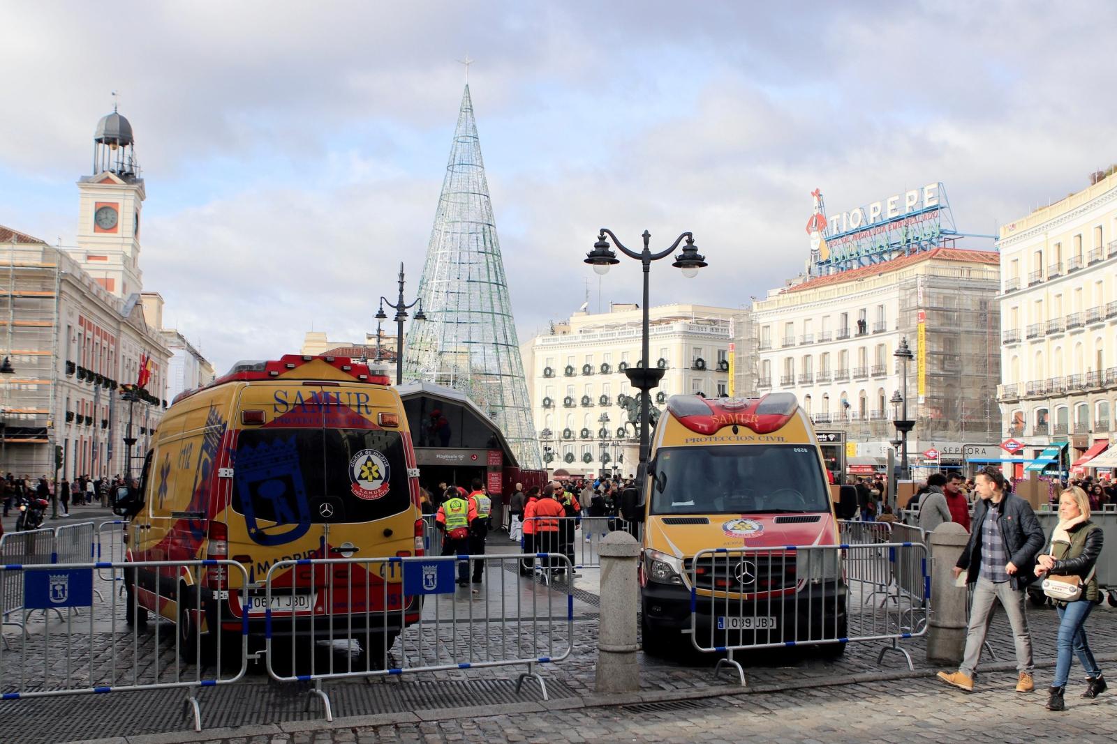 Przygotowania do Sylwestra w Madrycie, Hiszpania