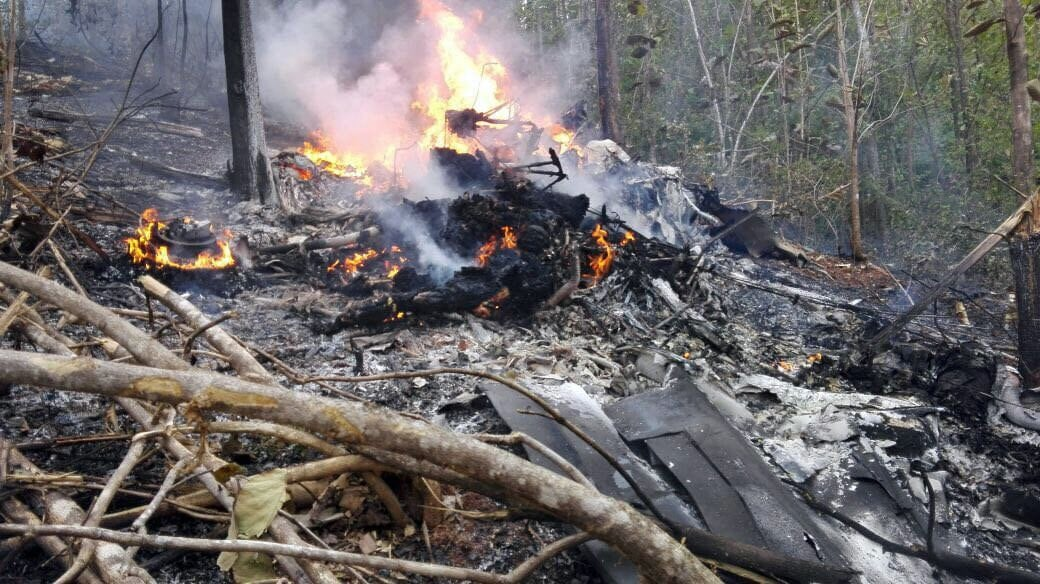 Kostaryka: wypadek prywatnego samolotu, 12 ofiar, fot: PAP/EPA