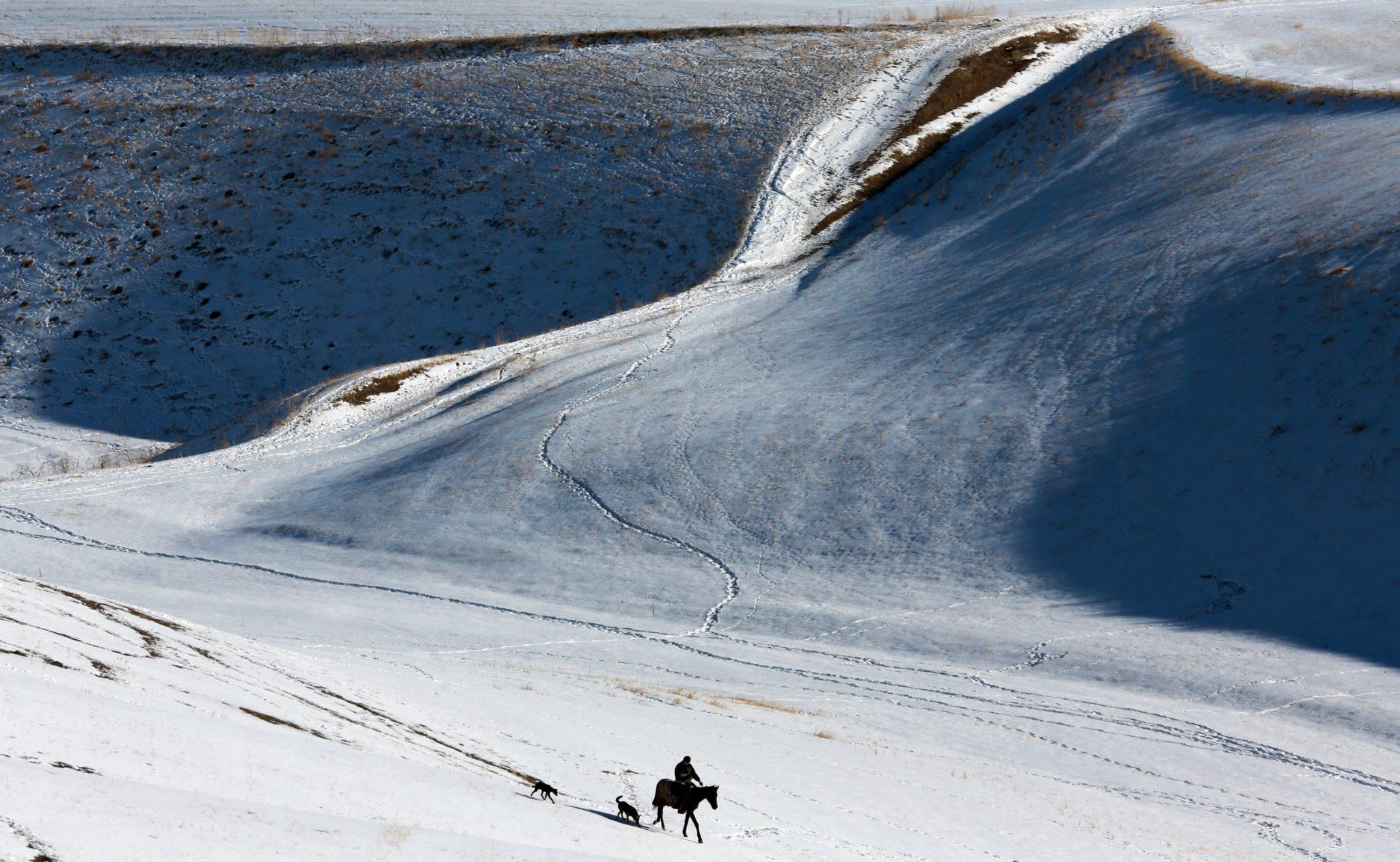 Zima w Kirgistanie, fot. Igor Kovalenko, PAP/EPA