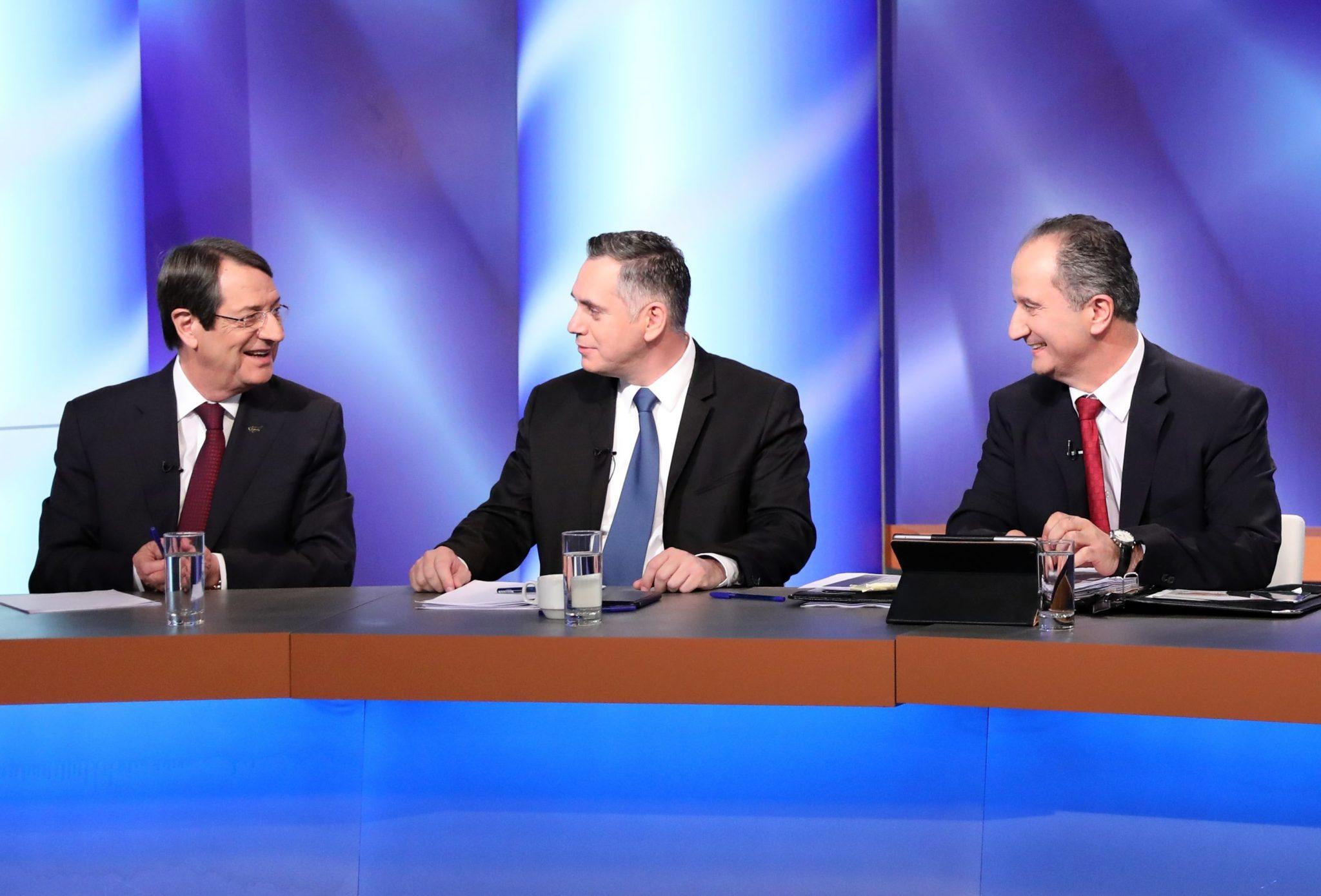 Cypr: debata prezydencka 5 głównych kandydatów, 1. tura odbędzie się w niedzielę, fot: Katia Christodolou, PAP/EPA