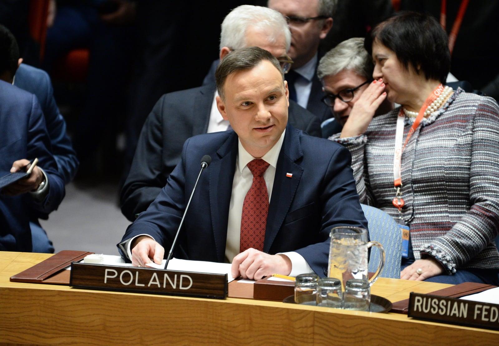 Prezydent RP Andrzej Duda podczas