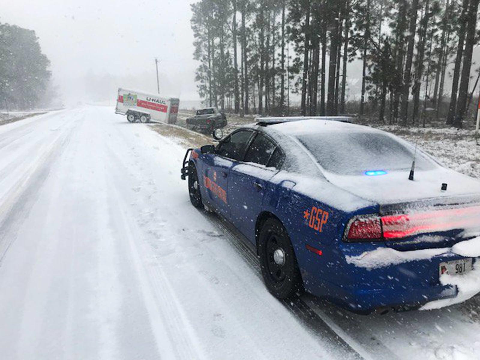Atak zimy w USA EPA/GEORGIA STATE