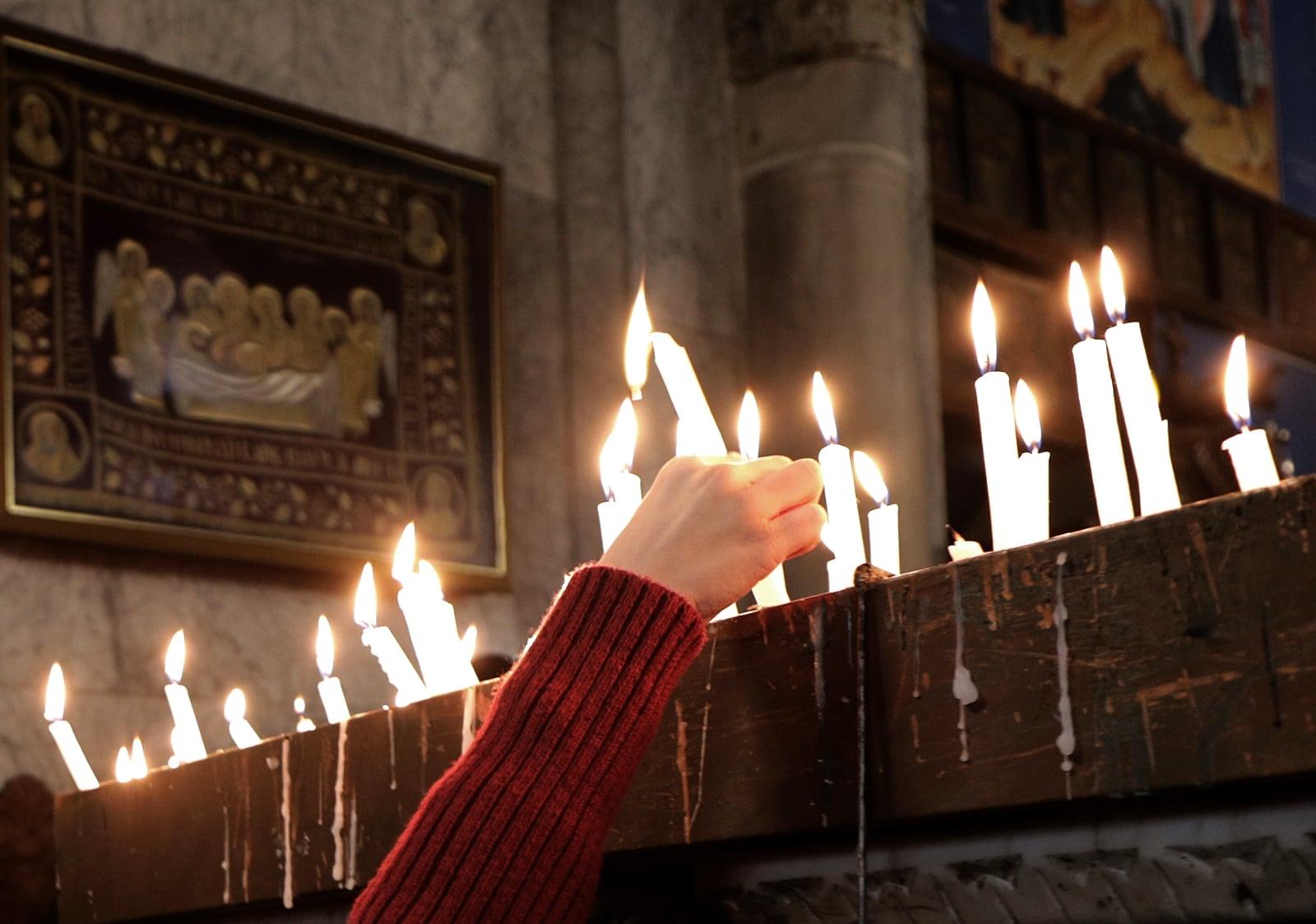 Boże Narodzenie u palestyńskich prawosławnych EPA/MOHAMMED SABER