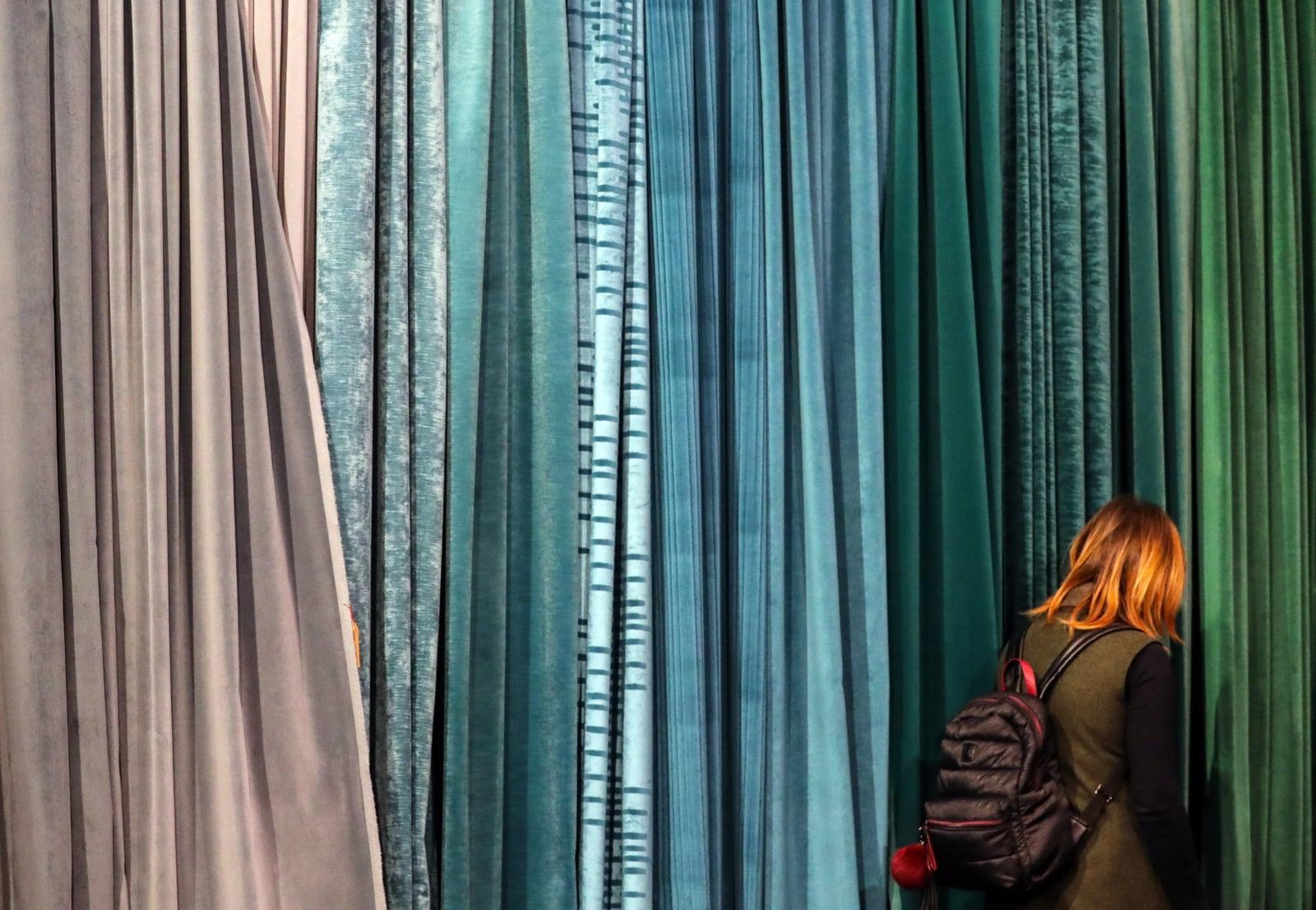 Największe na świecie targi tekstyliów do wyposażenia wnętrz i obiektów we Frankfurcie nad Menem, Niemcy, fot. EPA/ARMANDO BABANI