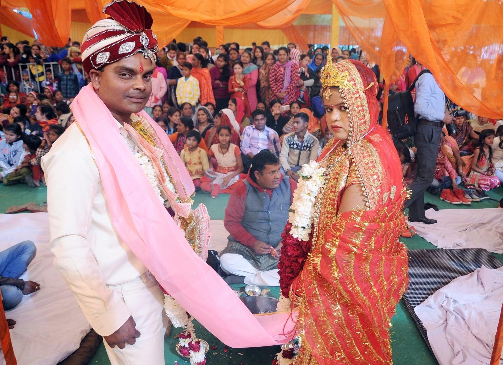 Masowy ślub w New Delhi, Indie