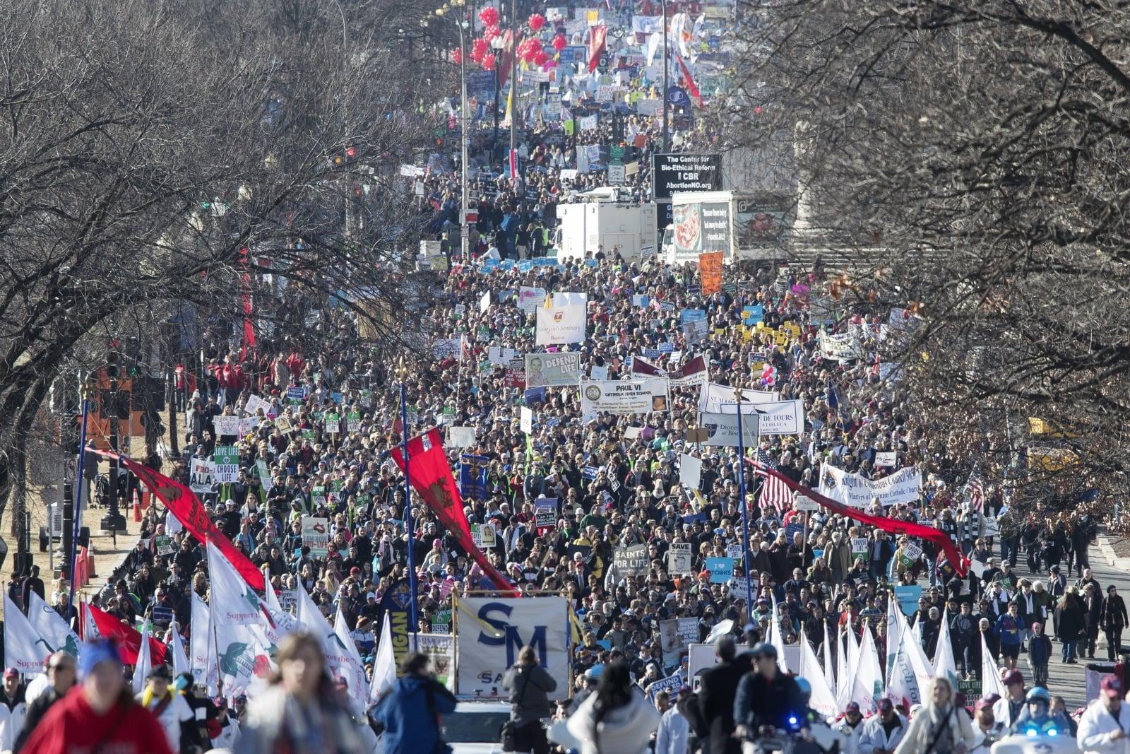 USA - marsz za życiem  EPA/MICHAEL REYNOLDS