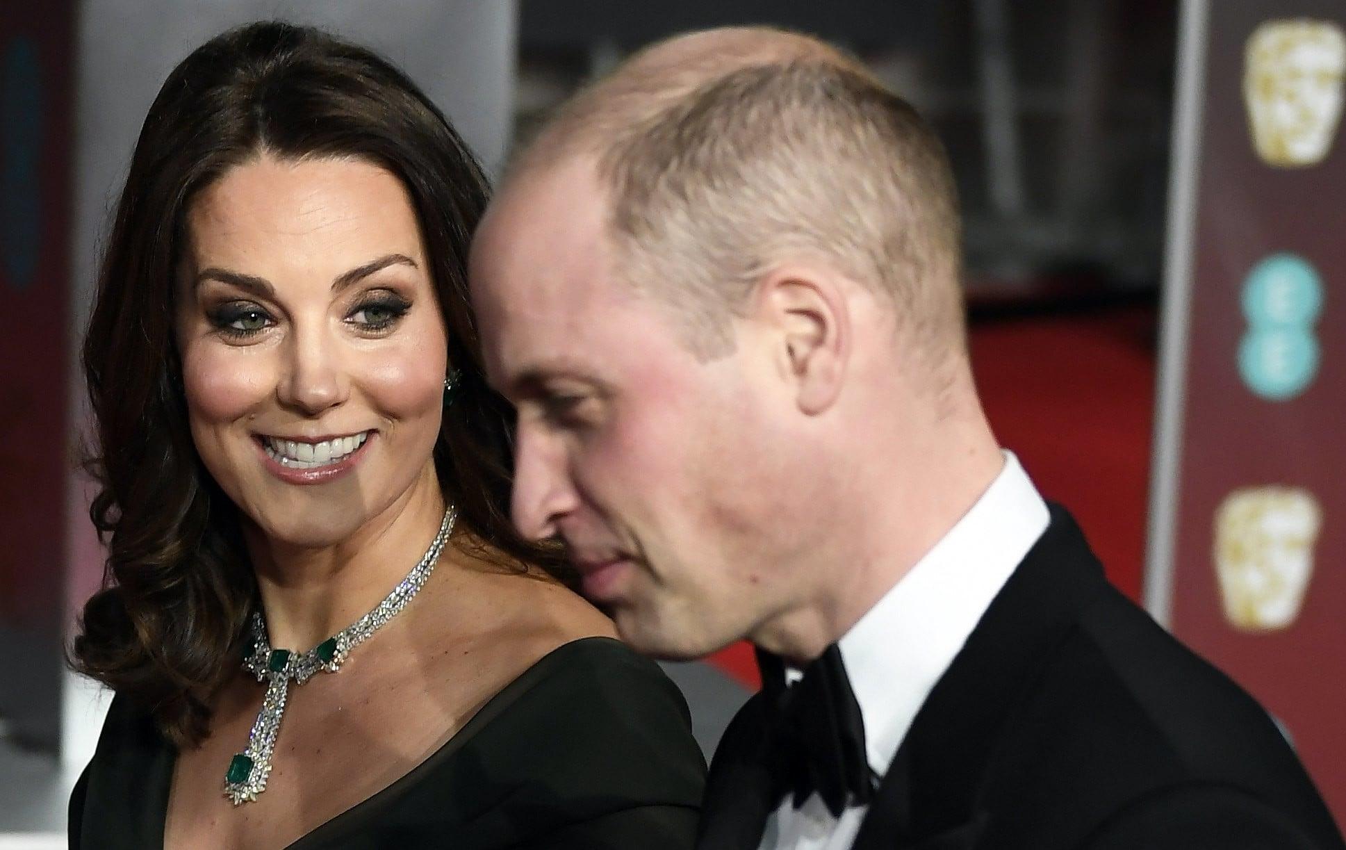 Londyn: nagrody BAFTA, na ceremonię ich wręczenia przybył książę William z małżonką, fot: Neil Hall, PAP/EPA