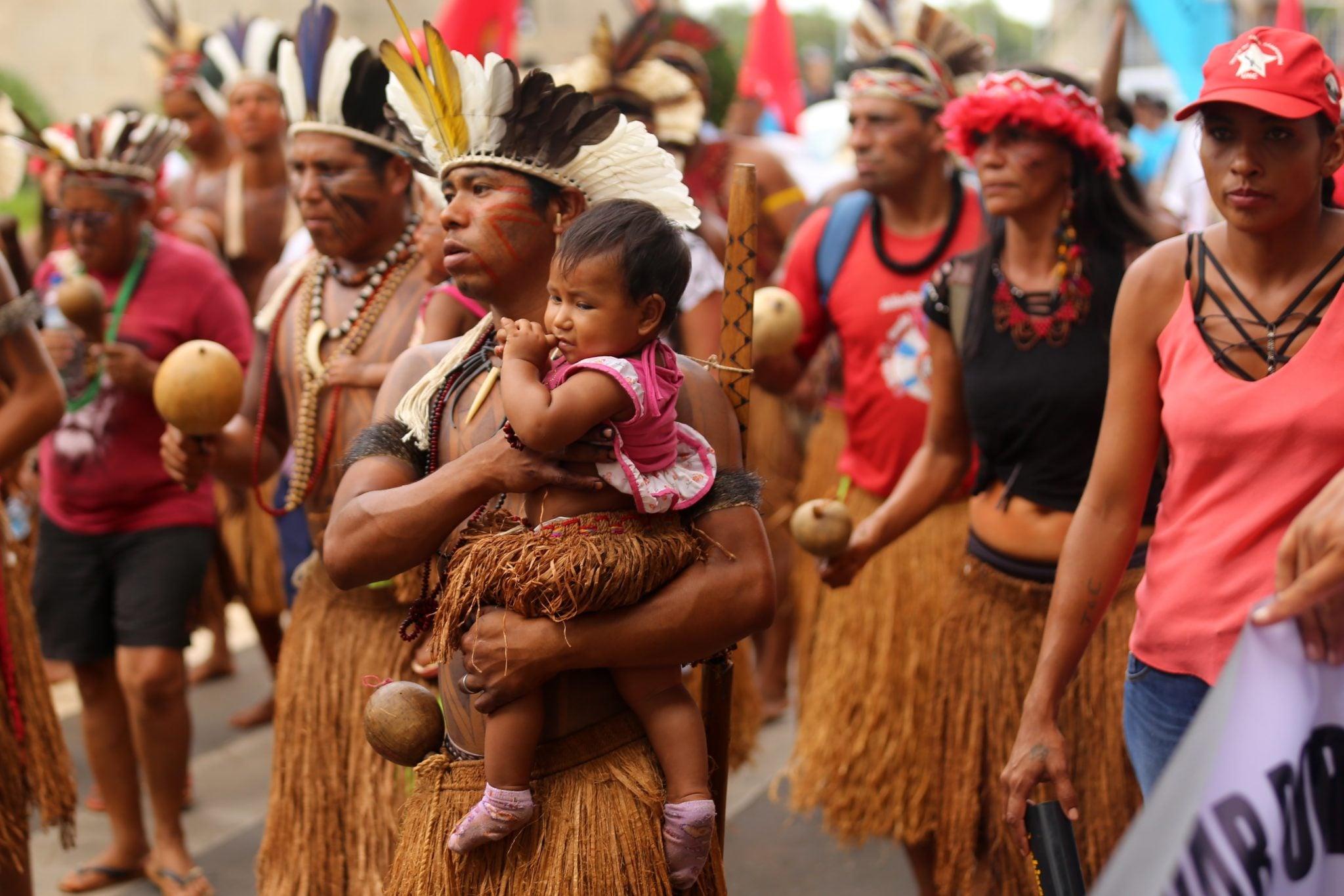 Brazylia: grupa etniczna Pataxo domagają się demarkacji ziemi i dostępu do służby zdrowia, fot: Joedson Alves, PAP/EPA