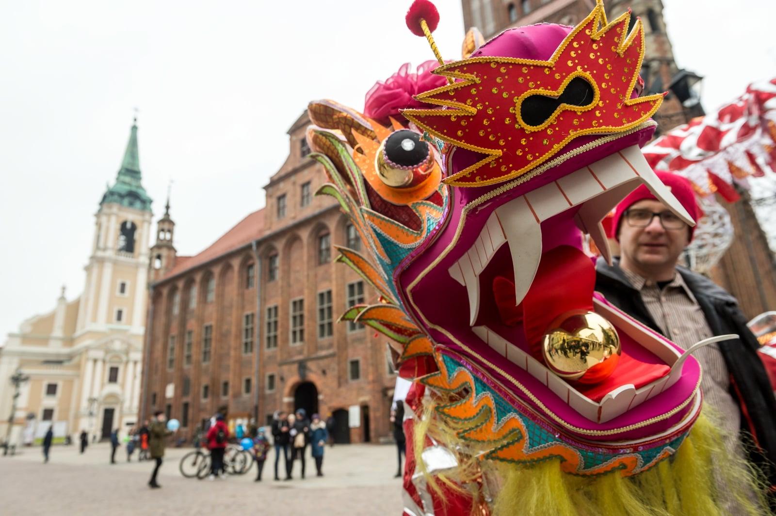 Toruń, obchody chińskiego Nowego roku PAP/Tytus ¯mijewski