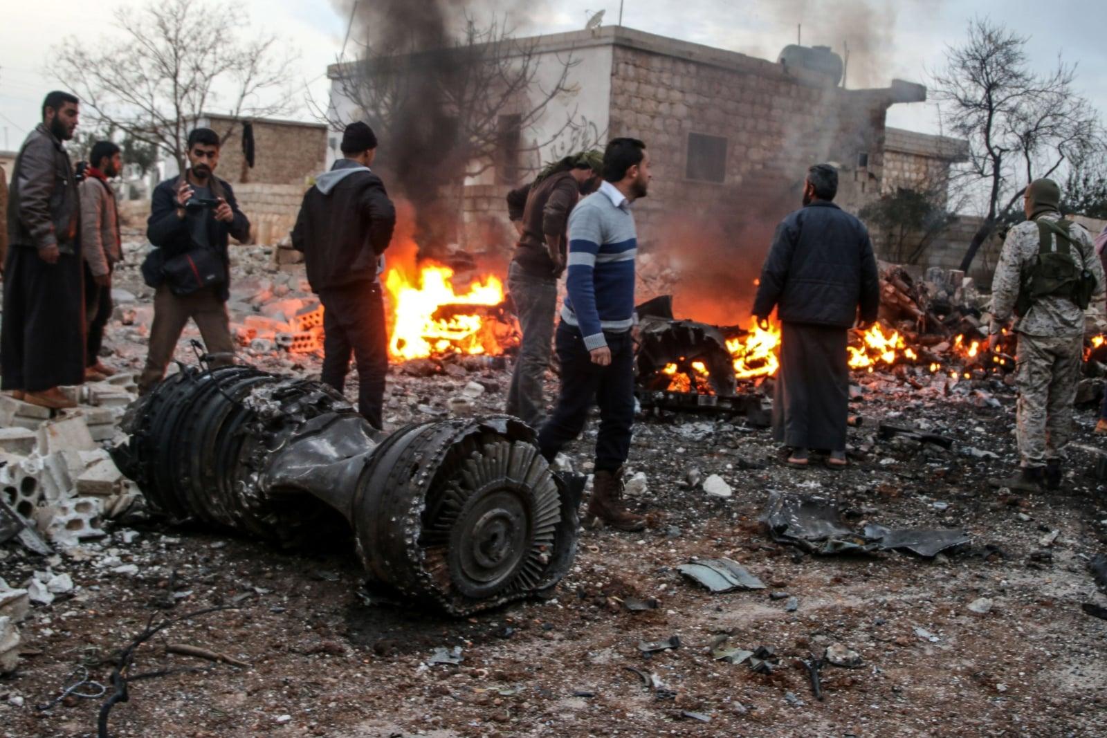 Syryjscy rebelianci zestrzelili rosyjski samolot EPA/ABDALLA SAAD