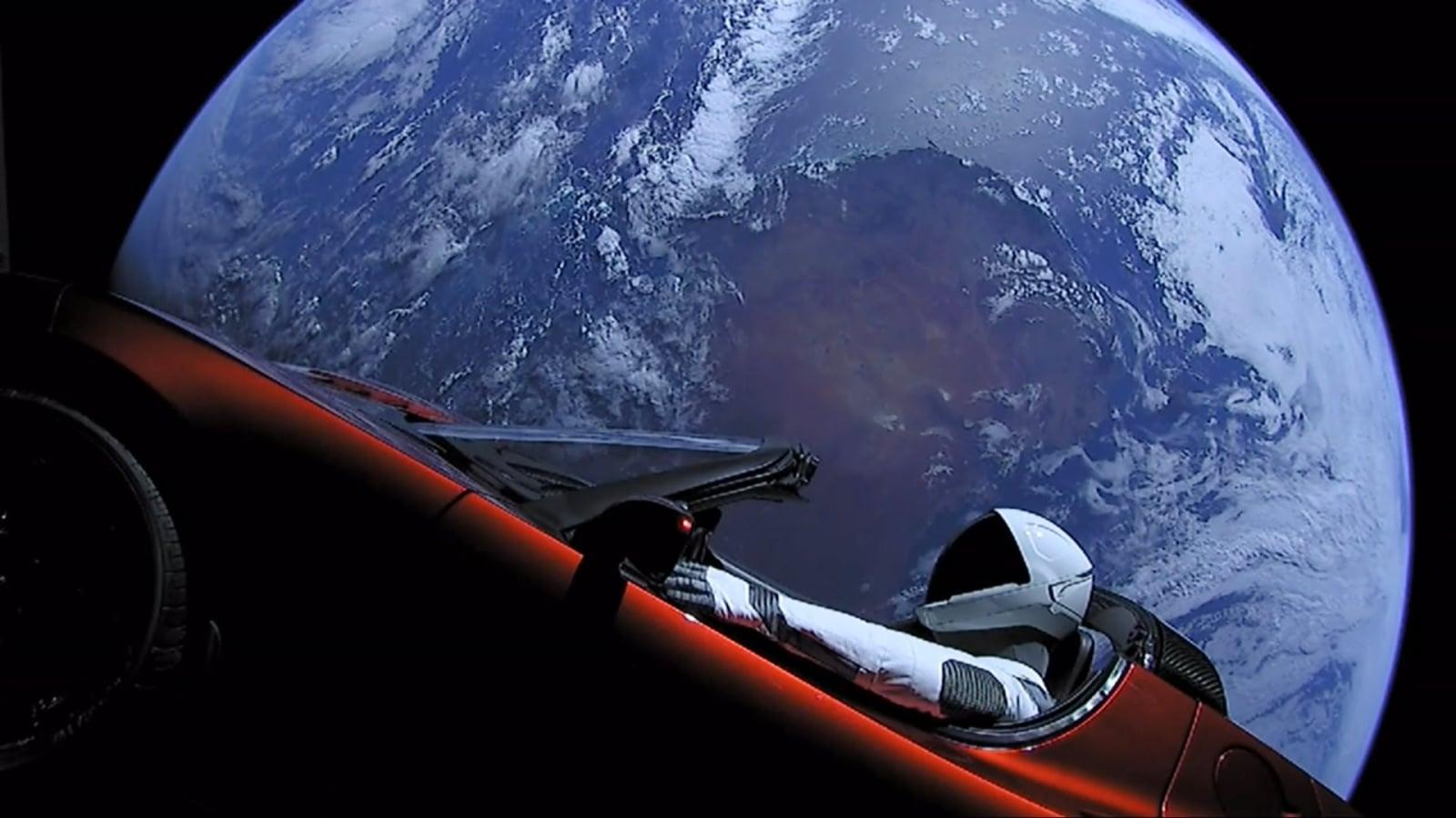 Tesla Elona Muska w kosmosie EPA/SPACEX