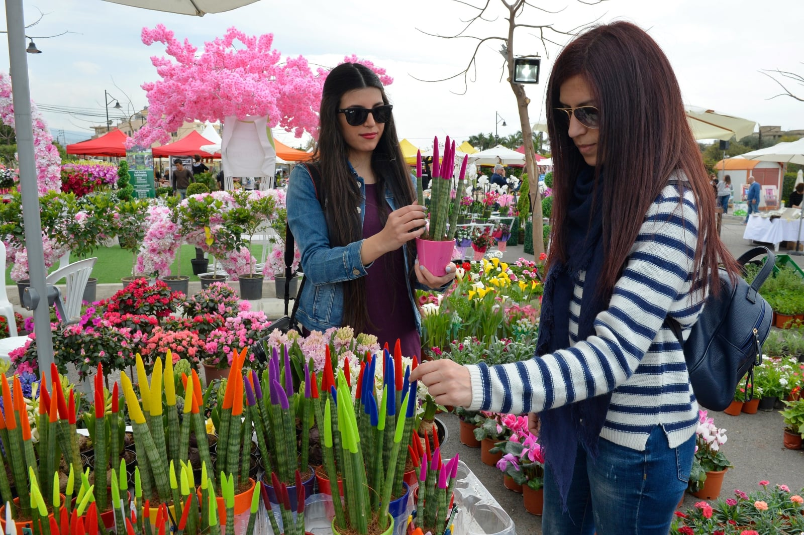 Wystawa kwiatów w Byblos, Liban, fot. EPA/WAEL HAMZEH