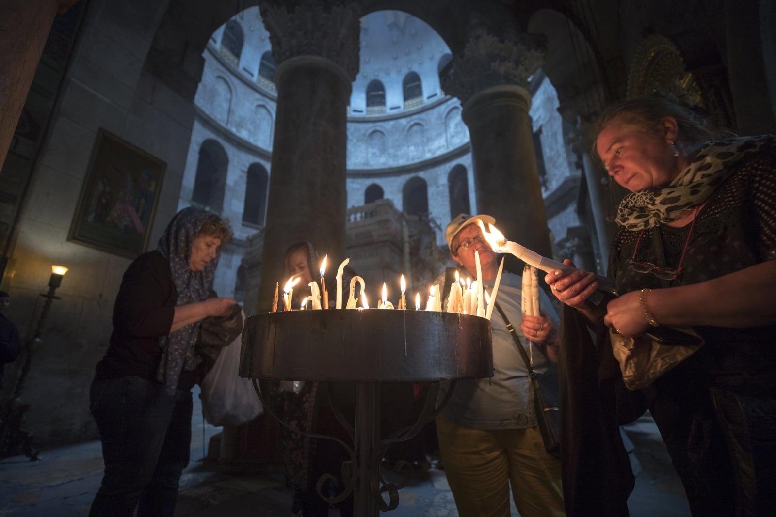 Bazylika Grobu Świętego, Jerozolima, fot. EPA/ATEF SAFADI