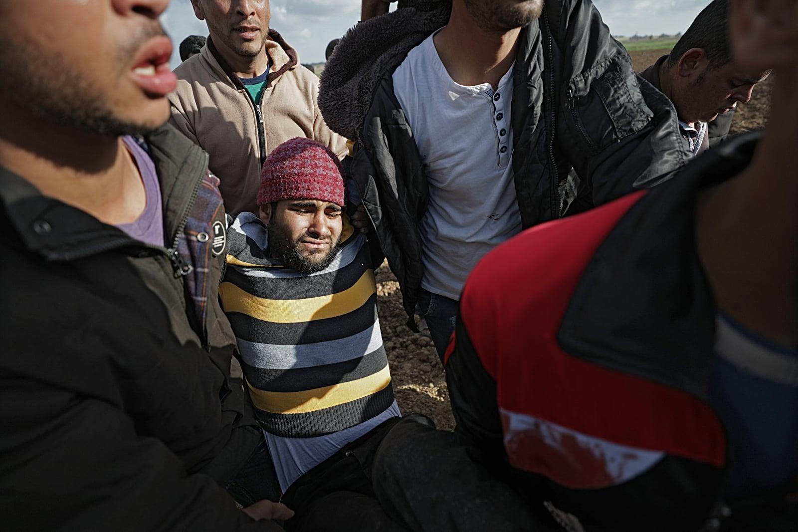 Starcia w Strefie Gazy fot. EPA/MOHAMMED SABER