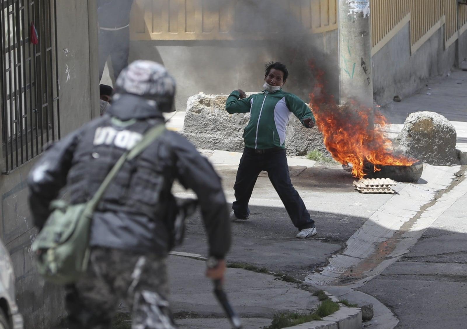 Protesty w Boliwii fot. Dostawca: PAP/EPA.