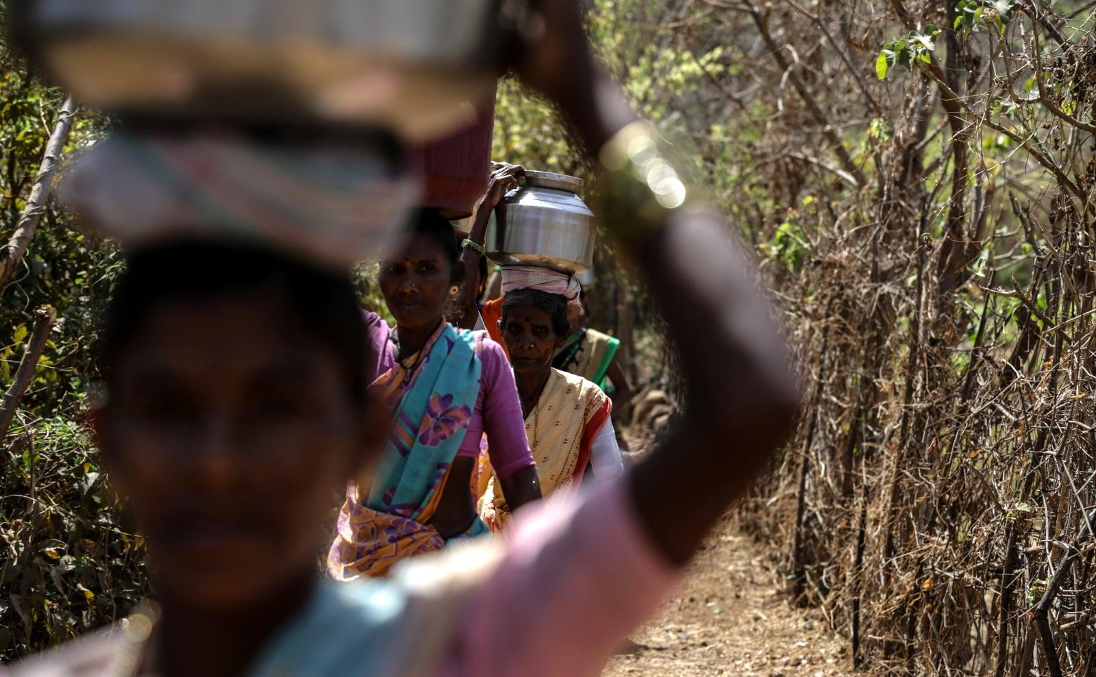 Dzień Wody w Indiach fot. EPA/DIVYAKANT SOLANKI