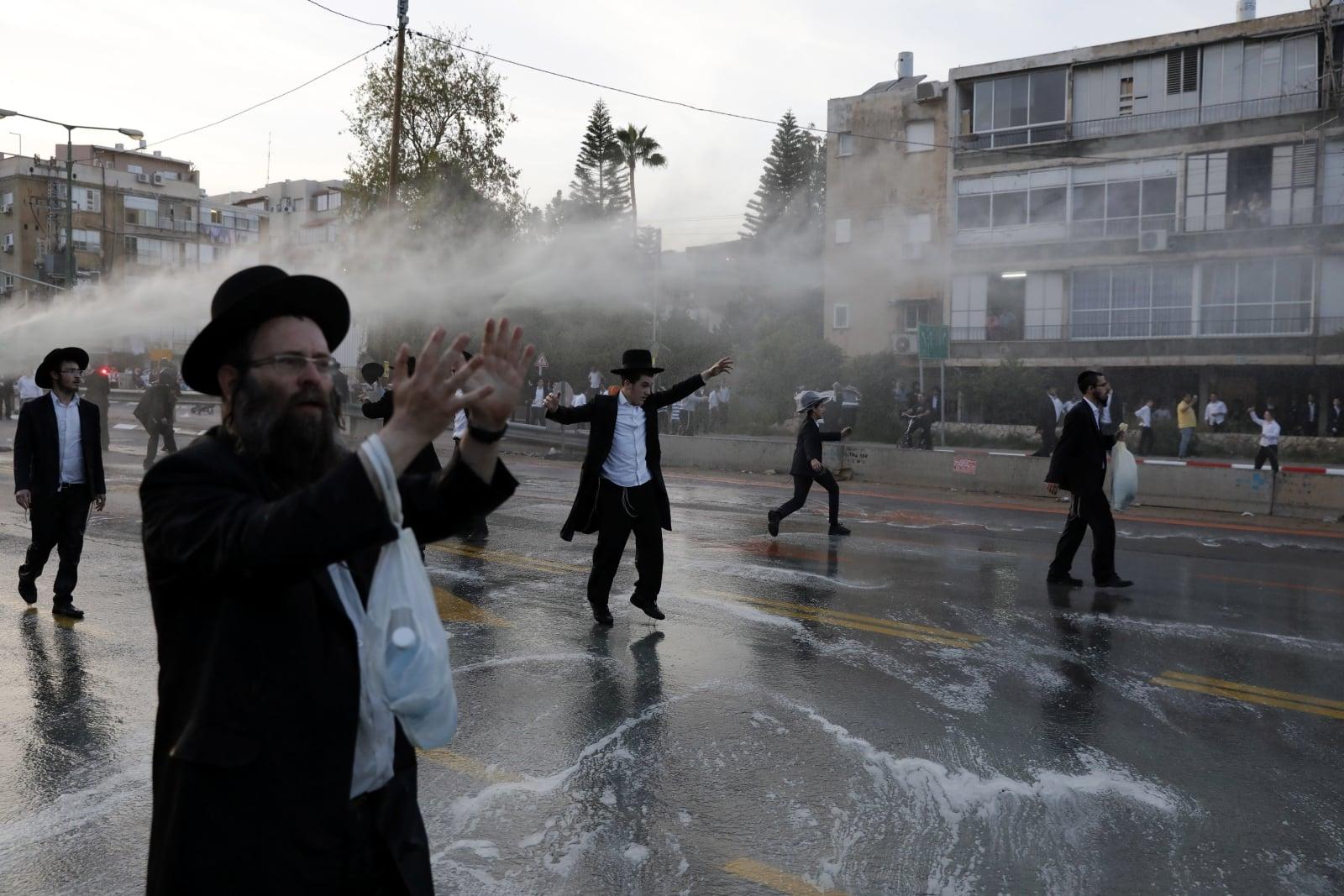 Protest ortodoksyjnych Żydów fot. EPA/ABIR SULTAN