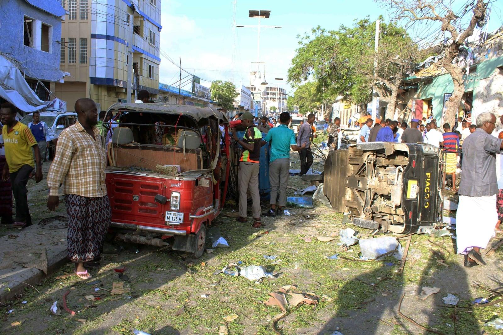 Auto-pułapka w Somalii fot. EPA/SAID YSUSF WARSAME