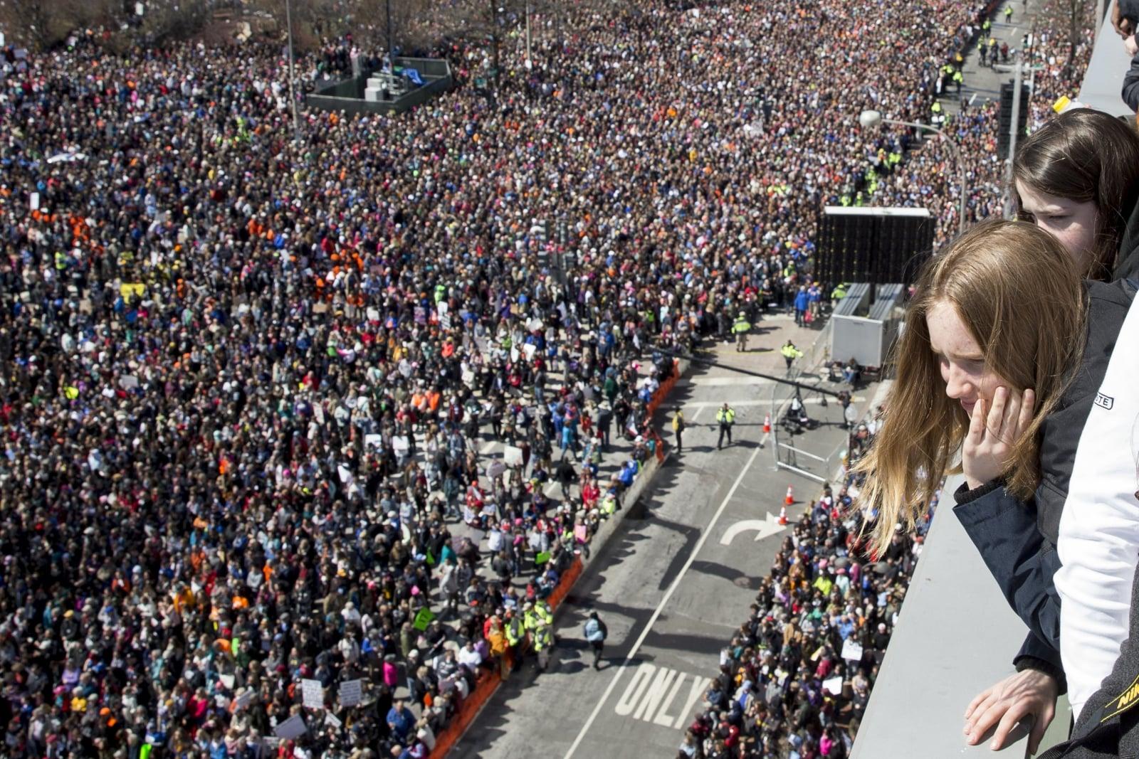 Marsz dla żyć - protest młodych ludzi przeciwko coraz częstszym atakom z bronią, Waszyngton