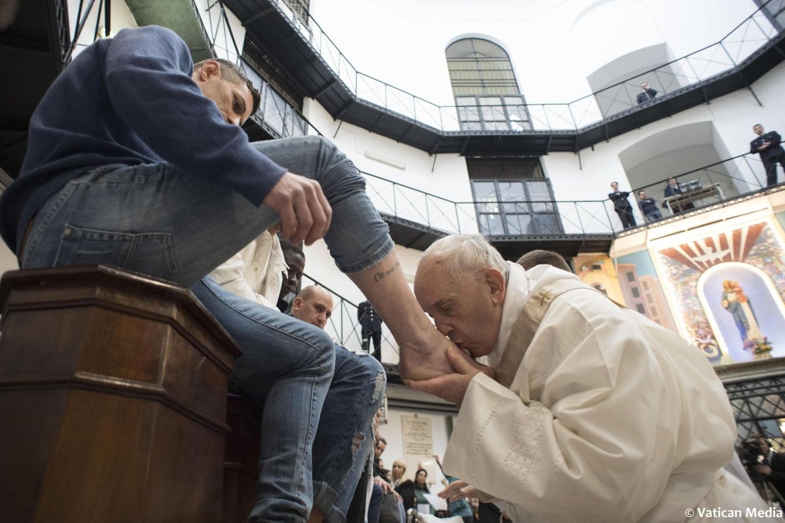 papież w Wielki Czwartek