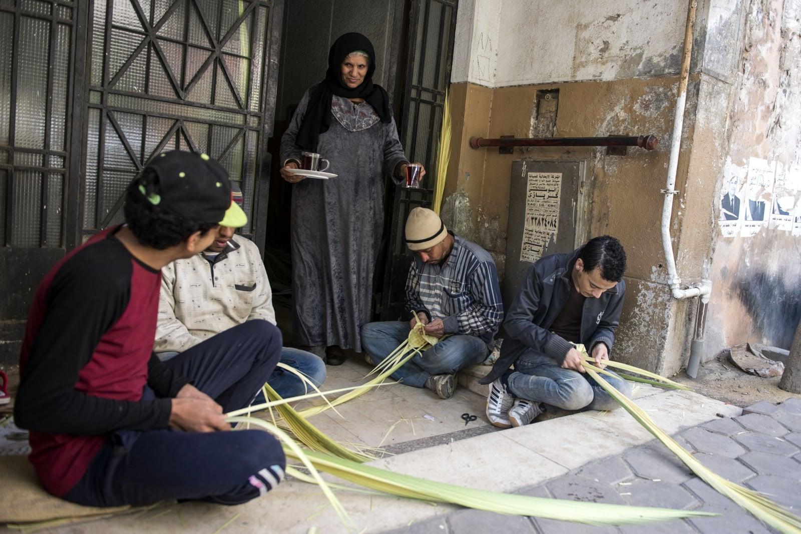 Niedziela Palmowa w Egipcie fot. EPA/MOHAMED HOSSAM