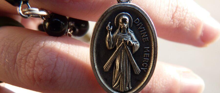 miłosierdzie Jezu Miłosierny medalik