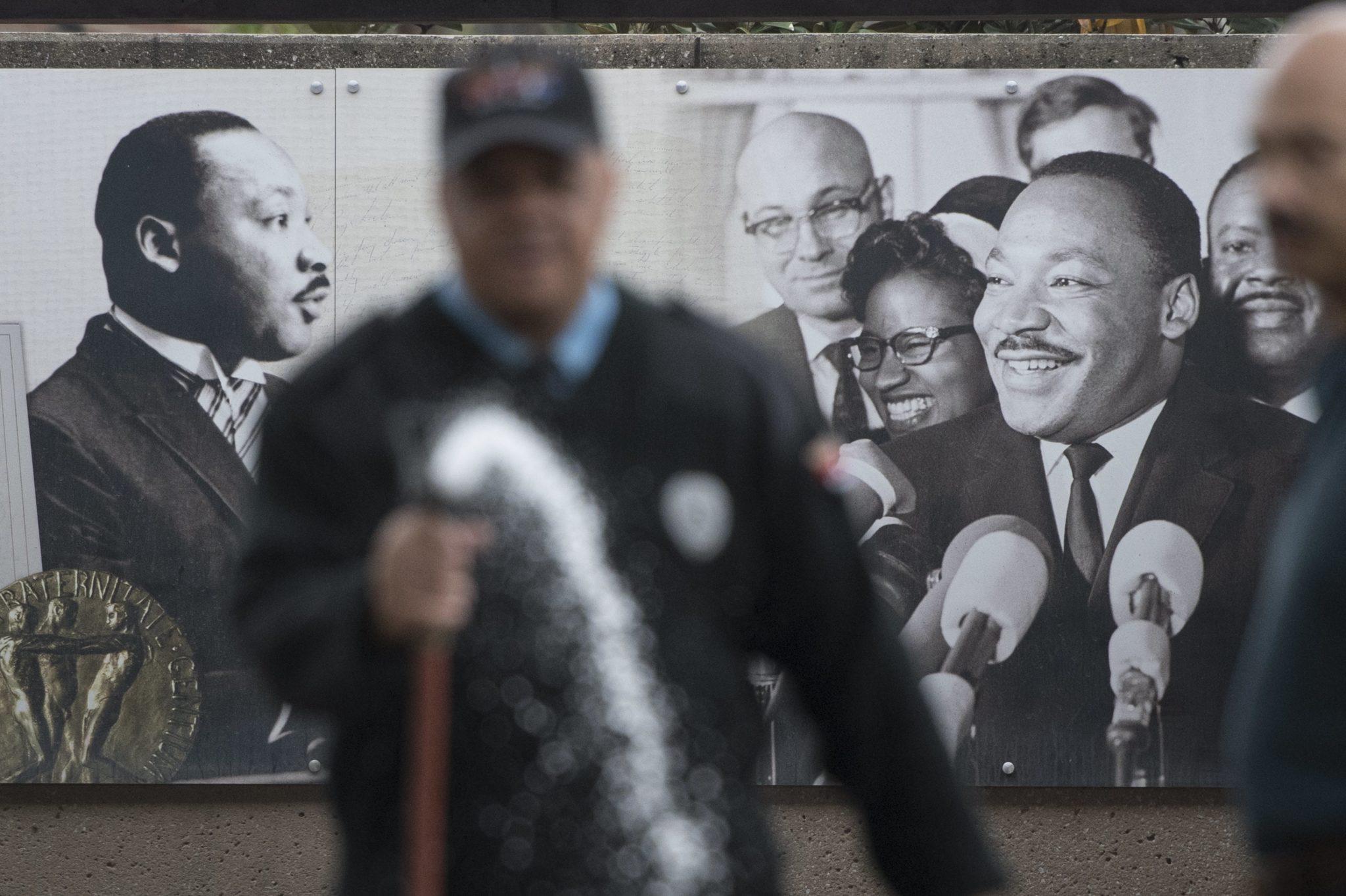 Atlanta, Georgia, USA: dzień przed 50. rocznicą zamordowania dr Martina Luthera Kinga Jr. W Atlancie znajduje się jego grób, fot: John Amis, PAP/EPA