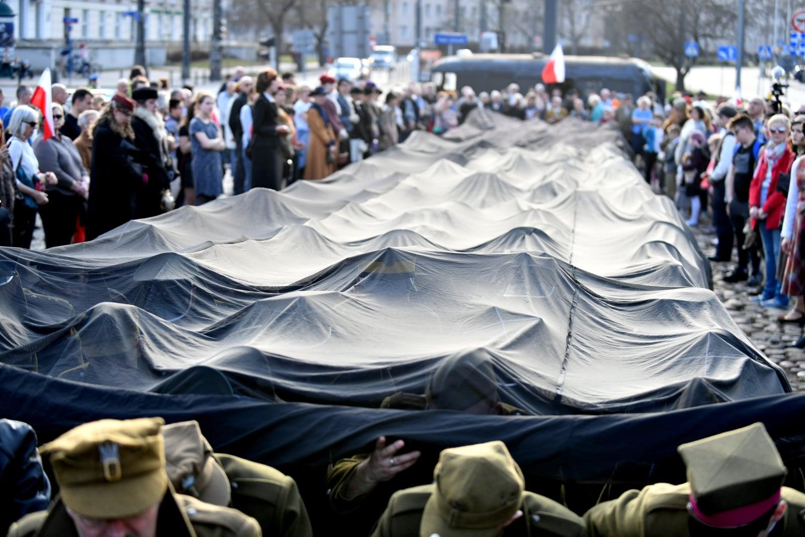 XI Katyński Marsz Cieni w Warszawie, fot. PAP/Bartłomiej Zborowski